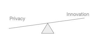 the balance between privacy and innovation