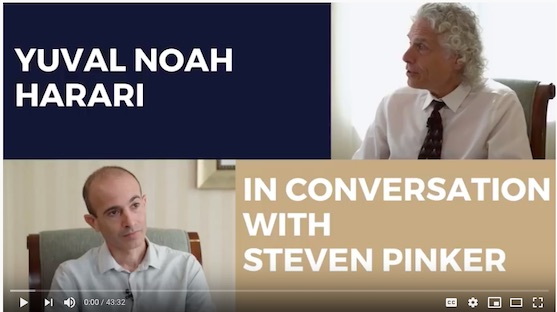 Steven Pinker and Yuval Noah Harari in conversation