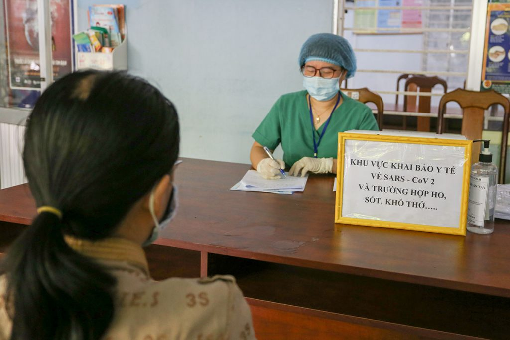 neighbors of patients 416 and 418 are asked to report their health conditions with the local health authorities Da Nang Vietnam 26 Jul 2020